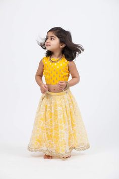 A contemporary South Asian fashion label. Baby Dress Design, Frock Design, Kids Party Wear Dresses, Girls Dresses, Baby Birthday Dress, Kids Blouse Designs, Kids Dress Patterns, Kids Frocks Design, Lehnga Dress