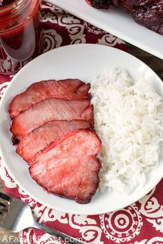 Chinese BBQ Pork Skip the take-out and make this delicious dish at home!Our delicious Chinese BBQ Pork can be eaten as is, or added to so many delicious Asia Easy Chinese Recipes, Asian Recipes, Chinese Bbq Pork, Chinese Food, Asian Pork, Cooking For Three, Sweet Sour Chicken, Hoisin Sauce, Asian Cooking