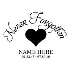 Set of 2 Never Forgotten Car Decals 8x8 by RightSideStuff on Etsy