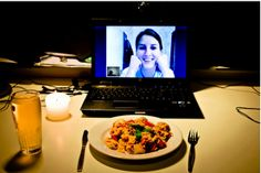 Skype date ideas- lol Something to do while being so far away- This and also watching a movie together, or make dinner together-that'd be fun!
