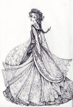 A Doodle Of Disneys Version The Snow Queen Elsa