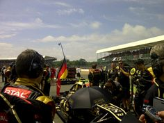 welcome sunshine after two days of rain! 2012 GP image courtesy Lotus F1