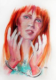 """La comdemna que jo m´he imposat"""" / watercolour 36 x 48 / Artist - Ame Soler"""