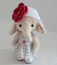 Teddy Doll Classes   Make a bunny, elephant, or kitty with Jean Paccagnan