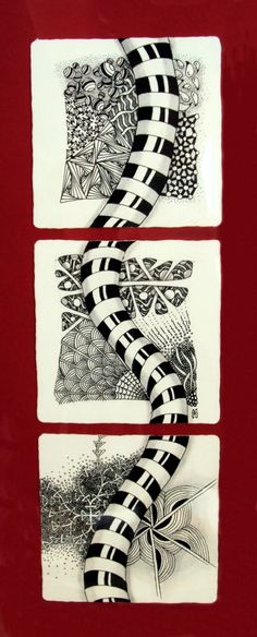 Catching the Bug: Know When to Hold 'Em, Know When to Fold 'Em Tangle Doodle, Tangle Art, Zen Doodle, Doodle Art, Zentangle Drawings, Doodles Zentangles, Doodle Patterns, Zentangle Patterns, Karten Diy