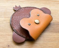 Monkey Coin Purse, Childrens' Coin Pouch, Personalised Coin Pouch, Handmade Leather Purse Monkey Coin Purse accessory for kids Leather Accessories, Leather Jewelry, Leather Purses, Leather Handbags, Leather Wallet, Leather Totes, Leather Bags, Leather Gifts, Leather Craft