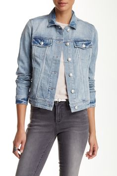 This denim jacket pairs nicely with your fave pair of jeans or a fun summer dress!