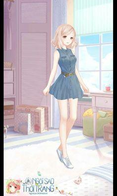 Family vacation with Hani? Cute Fashion, Star Fashion, Fashion Art, Girl Fashion, Cartoon Outfits, Anime Outfits, Cool Outfits, Fashion Design Template, Anime Dress