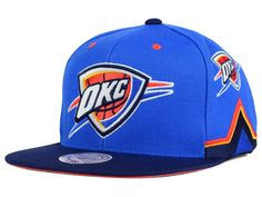 best website 1f0cc 1b95c Oklahoma City Thunder Mitchell   Ness Snapbacks, Thunder Snapback Hats,  Mitchell   Ness Flat Billed Hat