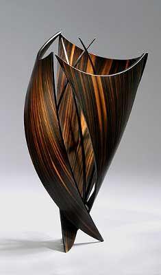 Peter Schlech, Artist, Elizabeth Series,  macassar ebony veneer and wenge