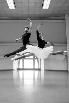 Paris Opera Ballet dancers rehearse La Bayadere, Hoffalt e Colasante