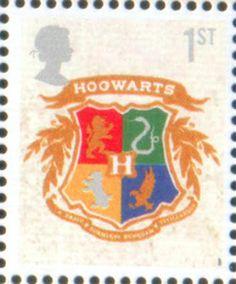 Literary Stamps: Rowling, J.K. (b. 1965) Hogwarts