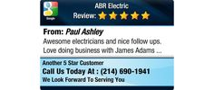 Awesome electricians and nice follow ups.  Love doing business with James Adams
