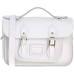 The Cambridge Satchel Company Handbag (380 PLN) ❤ liked on Polyvore featuring bags, handbags, white, white purse, white handbag, leather man bags, handbag purse and leather satchel