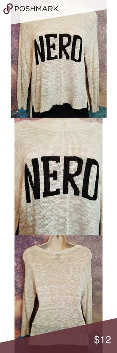 Rue21 NERD Knit Pullover Sweater Cute Nerd Sweater Size XL Rue21 Sweaters Crew & Scoop Necks