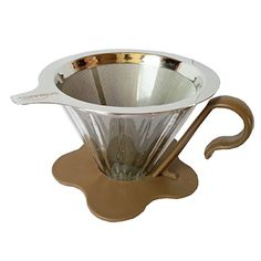 Homart Coffee Glass Dripper  Stainless Steel Filter SET Hand Drip Coffee Maker Green -- To view further for this item, visit the image link.