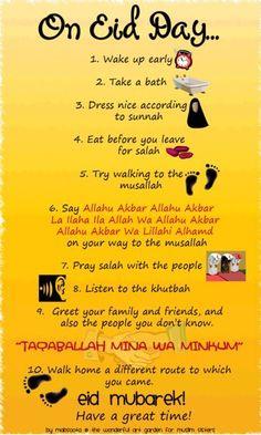 "peaceisislam: "" Tips for Eid! "" seems like just yesterday i was posting Ramadan tips, it went so fast! come back soon Ramadan, InshaAllah."
