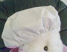 Cream Shower Cap White Cream Durable Waterproof by GiftCreation, $9.50