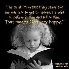 Child-like faith...
