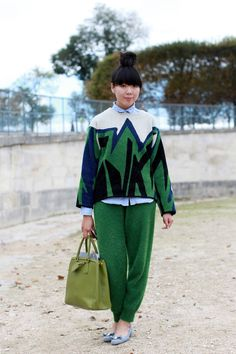 Fifty-five Street-Style Looks From the Weekend in Paris - The Cut #Susie Bubble
