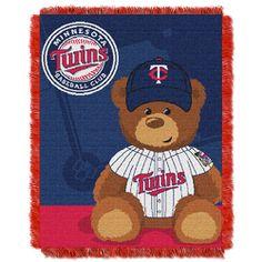 Minnesota Twins MLB Triple Woven Jacquard Throw (Field Baby Series) (36x48)