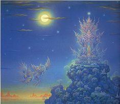 Famous Thai artist, Chalermchai Kositpipat, his work is phenomenal.