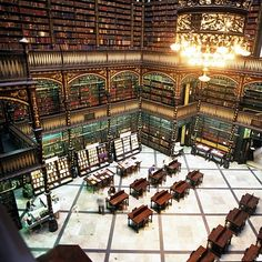 The Royal Portuguese Reading Room in Brazil. #library #libraries #books
