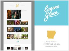 I like the big flat color hero with the simple graceful script… Nice work.    Eugene Grace New Website