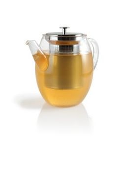 Claire Glass Teapot with Stainless Steel Infuser. This will be great for my harney and sons midsummer peach...mmmmm
