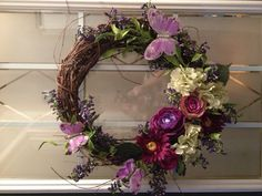 Spring wreath. Summer wreath. Made it for my mom
