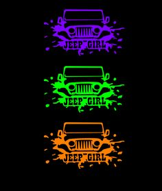 Jeep Girl sticker offered in multiple colors Jeep Stickers, Funny Bumper Stickers, Jeep Decals, Vinyl Decals, Jeep Wrangler Accessories, Jeep Accessories, Jeep Rubicon, Jeep Wrangler Unlimited, Jeep Tattoo