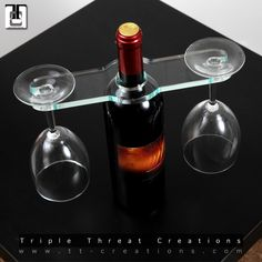 Wine balancer 2-glass holder. Clear Acrylic