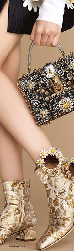 Dolce & Gabbana Summer 2016 Love the purse...boots not for me