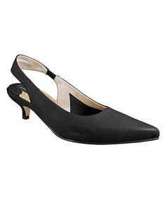 Take a look at this Black Lea Pointed-Toe Slingback by Ros Hommerson on #zulily today!