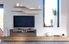 Composition I Collection Adulis | meubles Gautier I #cocooning #nature #chene #oak #TV #meubleTV #salon #TVset #bois #wood #Adulis #furniture #meuble #meubledesign #designfurniture #contemporaryfurniture