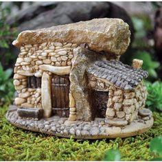 Fairy Garden Building Tiny Stone House ~ available for purchase via JoySavor…