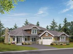 Eplans Craftsman House Plan - Spacious Floor Plan for Corner Lots - 2785 Square Feet and 3 Bedrooms from Eplans - House Plan Code HWEPL14479