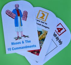 Free Moses and the ten commandments printables and activities