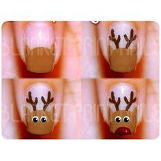 nail art  hand paint  christmas