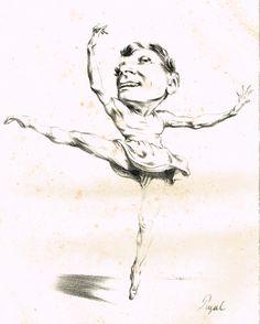 Le danseur - lithographie d'Edme-Jean Pigal (2/02/1798-16/09/1872) - MAS Estampes Anciennes - Antique Prints