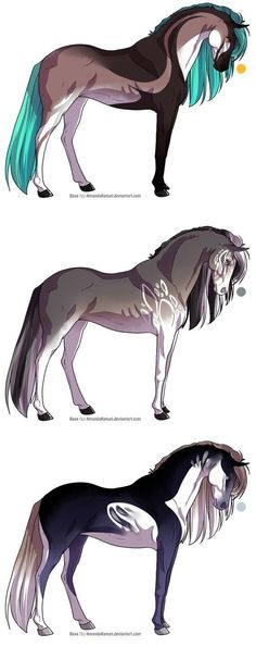 Horse Designs Auction 7 - OPEN by Karijn-s-Basement Mythical Creatures Art, Mythological Creatures, Fantasy Creatures, Horse Drawings, Animal Drawings, Cute Drawings, Anime Animals, Cute Animals, Arte Equina