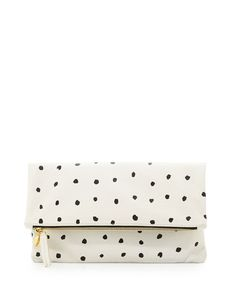 Pin for Later: Shop 100 Last-Minute Gift Ideas! Spotted Clutch Clare V. Supreme Spotted Foldover Clutch ($220)