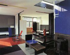 Gerrit Rietveld - maison Schröder - Utrecht - 1924 - maison ouverte, lumineuse, aux larges baies
