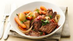 Pot roast is easier and tastier than ever!  Sounds yummy!  And it's almost pot roast weather.....