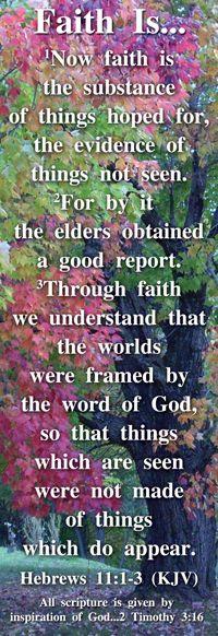 Hebrews 11:1-3...Faith is...