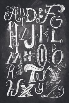 typography tuesday :: chalk lettering by shauna lynn
