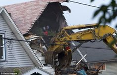 """Kidnapper Ariel Castro"""" house of horror was demolished today...such a shame HE wasn't still in it. EVIL FIEND! God Bless his three victimless."""