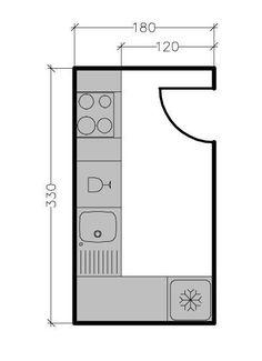 Kitchen Interior, Home Interior Design, Small Appartment, Kitchen Layout Plans, Mini Kitchen, Tiny House Plans, Minimalist Kitchen, Modern Kitchen Design, Dining Room Design