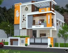 2bhk House Plan, Duplex House Plans, Duplex House Design, House Front Design, Apartment Design, New Modern House, Modern Small House Design, Modern Exterior House Designs, Modern Houses