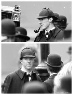 <3 OMG !!! I have always wanted to see Ben in the Original Sherlock attire :D <3 Victorian Sherlock special Christmas season 4